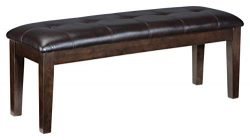 Ashley Furniture Signature Design – Haddigan Upholstered Dining Room Bench – Casual  ...