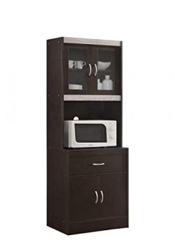 HODEDAH IMPORT HIKF96 HIK96 Choco-Grey Kitchen Cabinet, Assembled Dimensions: 70.86 in. H x 23.8 ...