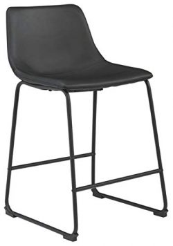Signature Design by Ashley Centiar Barstool, Counter Height, Black