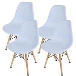 shamolutuo Dining Chairs Set of 4 Dining Room Chairs Kitchen Chairs Accent Chair Mid Century Mod ...