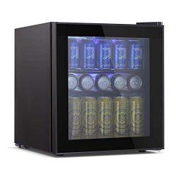 Tavata Wine Cooler- Freestanding Single Zone Fridge and Cellar Chiller, Quiet Wine Refrigerator  ...