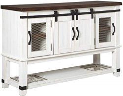 Signature Design By Ashley – Valebeck Dining Room Server – Casual Style – Whit ...