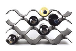 Baridoo Wine Rack. Stackable Countertop Wine Bottle Stand. 12 Bottles Wine Holder Organizer for  ...