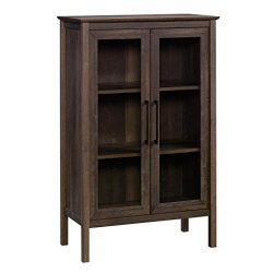 Sauder 423353 Anda Norr Storage Display Cabinet, Smoked Oak Finish