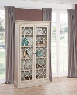 Martin Furniture Felicity Glass Door Bookcase, White