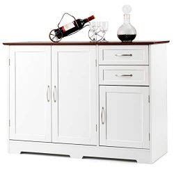 Giantex Buffet Server Sideboard Storage Cabinet Console Table Tableware Organizer Kitchen Dining ...