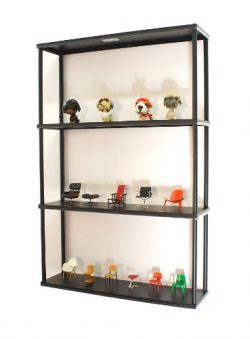 Mango Steam Wall-Mounted Steel Shelving Unit – 36 H X 24 W X 6 D Inches – Black R ...
