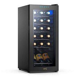 WIE 18 Bottles Wine Refrigerator Compressor System, Red and White Wine Fridge Freestanding Refri ...
