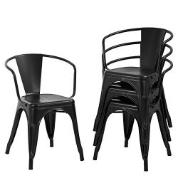 Dining Chairs Set of 4 Metal Chair Indoor Outdoor Chairs Patio Chairs Kitchen Dining Chairs 18 I ...