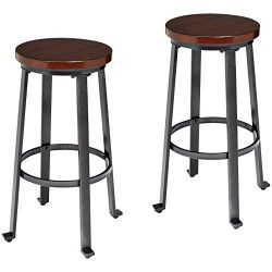 Ball & Cast Bar Stools – 29 Inch, Set of 2, Rustic Brown