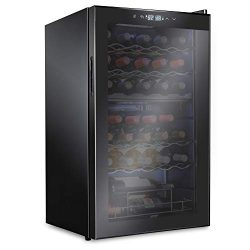Ivation 33 Bottle Dual Zone Wine Cooler Refrigerator   Large Freestanding Wine Cellar For Red, W ...