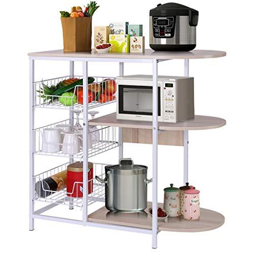 Kitchen Shelves goalB Kitchen Baker's Rack Microwave Oven Stand Workstation Shelf Storage  ...
