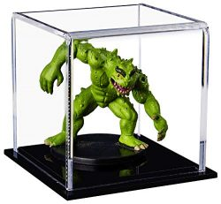 Better Display Cases Versatile Acrylic Display Case, Cube, Dust Cover or Riser with Black Base 3 ...