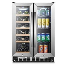 Under Counter Wine and Beverage Cooler 18 Bottles and 55 Cans