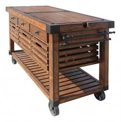 ACME Furniture Kitchen Cart, Distress Chestnut