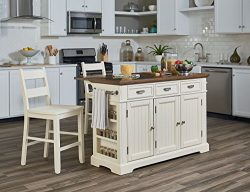 INSPIRED by Bassett  Kitchen Island, Distressed White