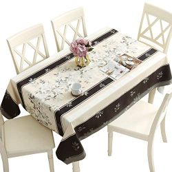DUOFIRE Vinyl Tablecloth Rectangle Heavy Weight Table Cover Wipe Clean Waterproof (54 x 102 Inch ...