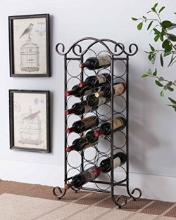 Kings Brand Furniture Brushed Copper Free Standing Storage Organizer Display Wine Rack