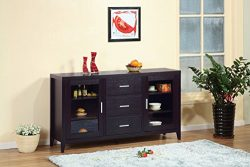 Smart Home 11456 Red Cocoa Fine Dining Sideboard Buffet Table