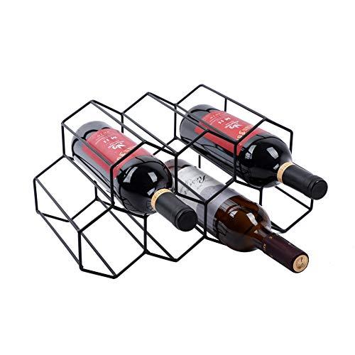 Urban Deco Wine Rack Freestanding Wine Racks Cabinets Bottle Holder Countertop Storage Metal Bru ...