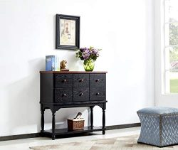 Mixcept Solid Wood Sideboard Buffet Server Cabinet Kitchen Dining Room Cupboard Console Table wi ...