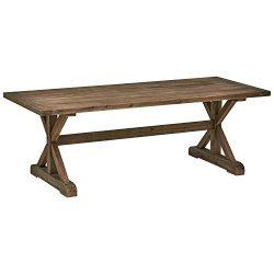 Stone & Beam Bradhurst Rustic Wood Dining Table, 30″H, Brown