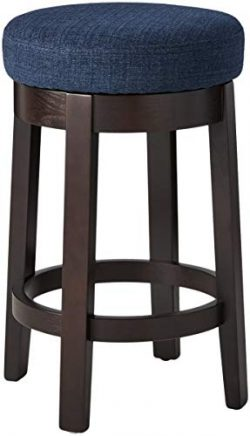 Ravenna Home Backless Counter-Height Kitchen Bar Stool with Swivel Seat, 26″H, Midnight