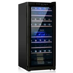 KENWELL 48 Bottles Compressor Dual Zone Freestanding Wine Cooler Refrigerator/Chiller-Red/White  ...