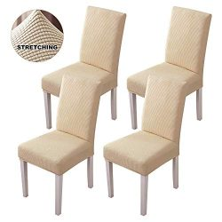 Famiry Stretch Dining Room Chair Slipcovers Sets Removable Washable Dining Chair Covers for Hote ...