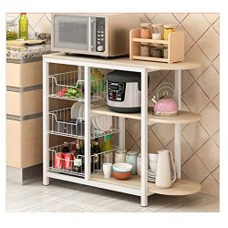 Kitchen Baker Rack, Mosunx 3 Tier Multifunction Microwave Oven Workstation Shelf Standing Spice  ...
