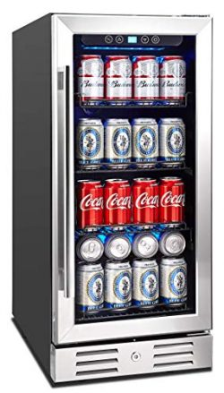 Kalamera 15″ Beverage Cooler 96 can Built-in or Freestanding Touch Control Beverage Fridge ...