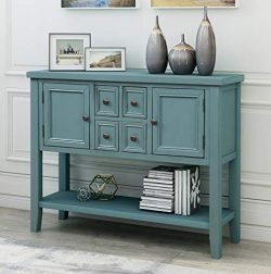 Console Table Sideboard Buffet Storage Cabinet Home Furniture for Entryway Hallway with Bottle S ...