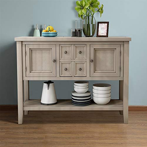 Romatlink Retro Minimalist Design Solid Wood Buffet Table Porch Table,Sideboard,Porch Table Furn ...