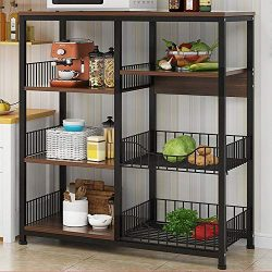 Redd Royal 4-Tier Kitchen Baker's Rack Utility Storage Shelf, Multifunctional Stand Organi ...
