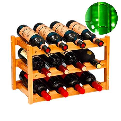gzshengqi Wine Rack, Natural Bamboo Freestanding Wine Storage Cabinet Shelf, Countertop Wine Rac ...