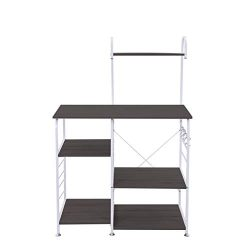 Us Shipping Kitchen Storage Baker's Rack Vintage Utility Storage Shelf Microwave Stand 4-T ...