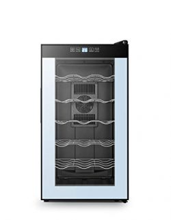 High Life 18 Bottle Wine Cellar Refrigerator with Thermoelectric Cooling, Optimal Drink Temperat ...