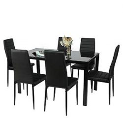 BAHOM Kitchen Dining Room Chairs Set of 6, PU Leather Chairs for 6 Person Large Family Dinner Br ...
