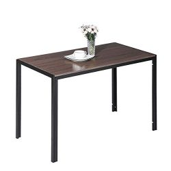 Wood Dining Table, Alecono Modern Dining Room Table for Family Wooden Kitchen Table with Sturdy  ...