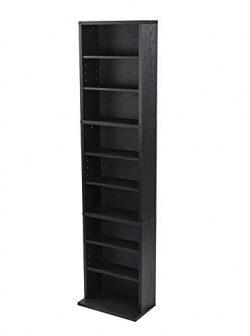 Atlantic Herrin Adjustable Media Cabinet, Textured Ebony – 74736250