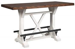 Signature Design By Ashley – Valebeck Rectangular Dining Room Counter Table – Casual ...