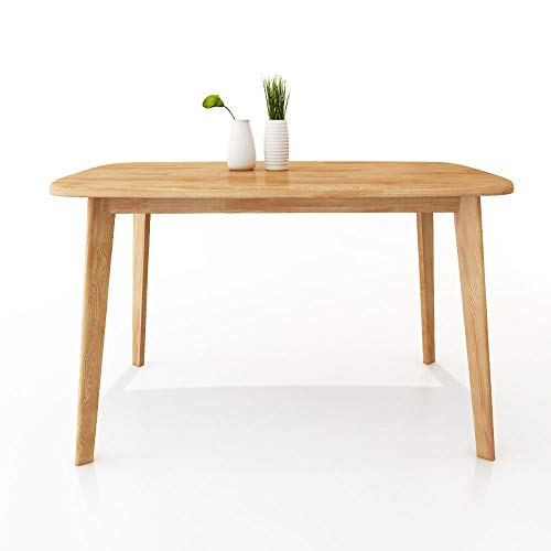 Modern Dining Table Mid Century Wood Dining Room Kitchen Table Natural Wood (YCZL-1200)