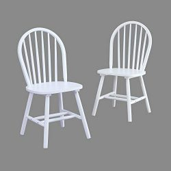 BHG Autumn Lane Windsor Solid Wood Dining Chairs (White)