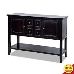Romatlink Classic Buffet Table Sideboard,Porch Table Furniture,Sideboard,Console Table,with 4 St ...