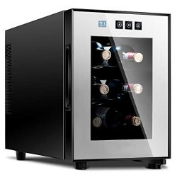 6 Bottles Thermoelectric Wine Cooler Fridge Refrigerator Freestanding Cellar Rack Storage Holder ...