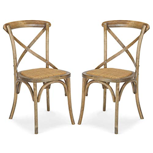 Poly and Bark Cafton Crossback Chair, Spanish Brown