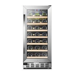 33 Bottle Single Zone, Sinoartizan Compressor Wine Cooler Fridge