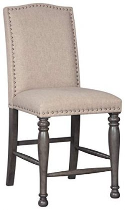Signature Design by Ashley – Audberry Dining Barstool – Full Back – Set of 2 & ...