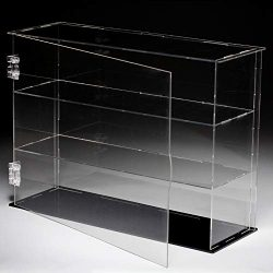 LANSCOERY Three Layers Clear Acrylic Display Case Assembly Countertop Box Cube Organizer Stand D ...