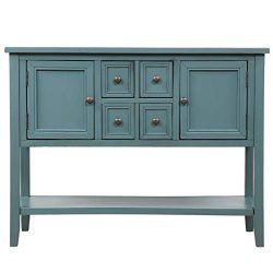 Buffet Table, Cambridge Series Sideboard Table with Bottom Shelf, Console Table Dining Room Serv ...
